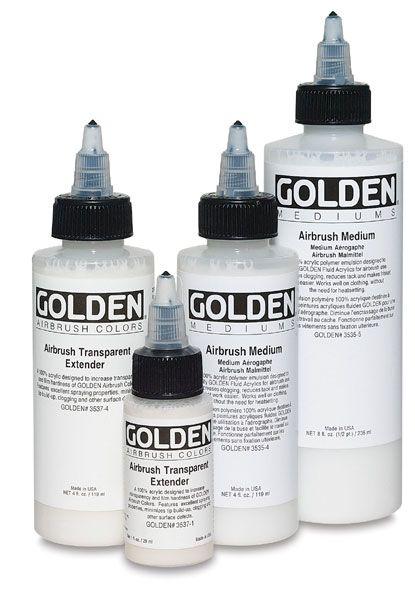M 1 Paint Extender : paint, extender, Golden, Airbrush, Mediums, BLICK, Materials, Materials,, Painting, Supplies,