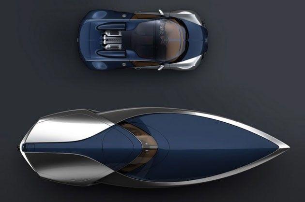 Bugatti Veyron Sang Bleu speedboat concept by Ben Walsh #bugattiveyron