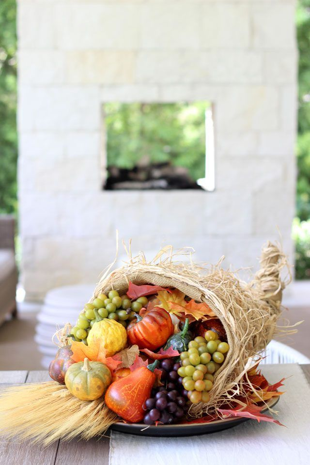 How To Arrange A Beautiful Cornucopia Centerpiece Fall Decorating