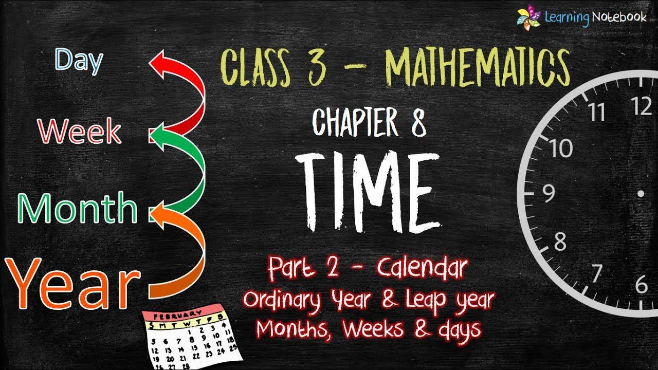 Class 3 Maths Ch8 P2 Calendar Days Week Month Year Time Class 3 Maths Math Learning [ 720 x 1280 Pixel ]