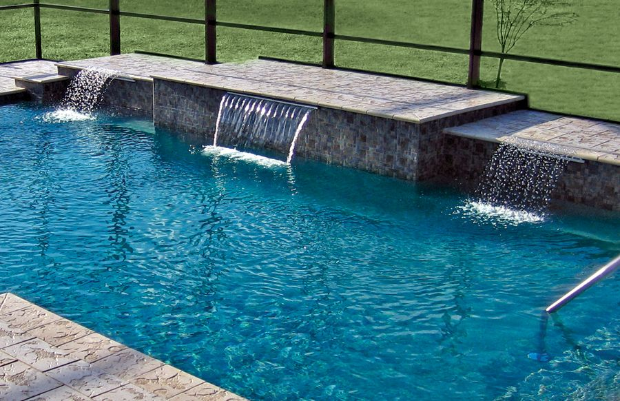 Cascade Waterfall Pool Photos Blue Haven Swimming Pool Fountains Pool Photos Pool Waterfall