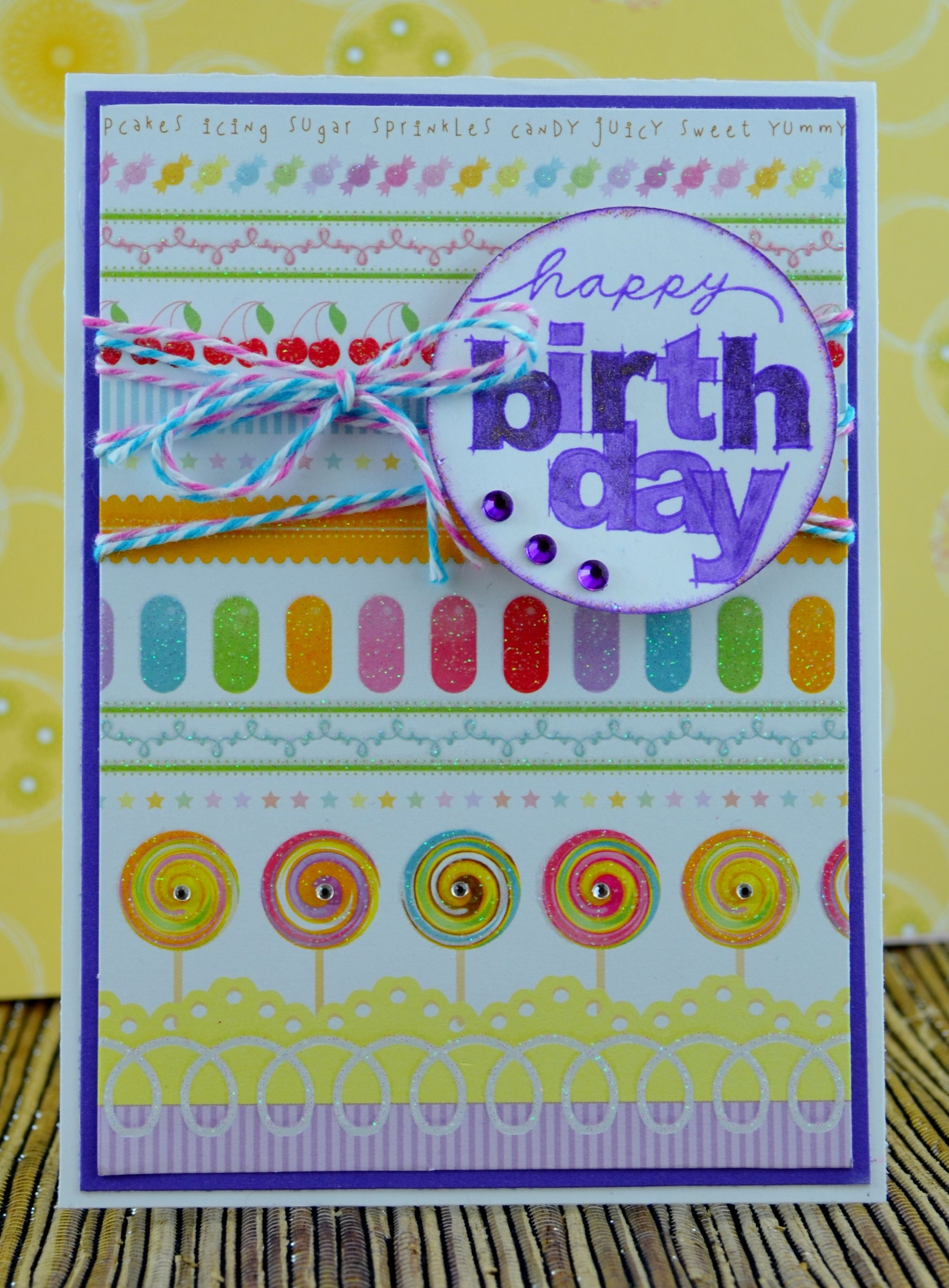 By Kim Collins Happy Birthday Dcwv The Sweet Stack Paper Ctmh