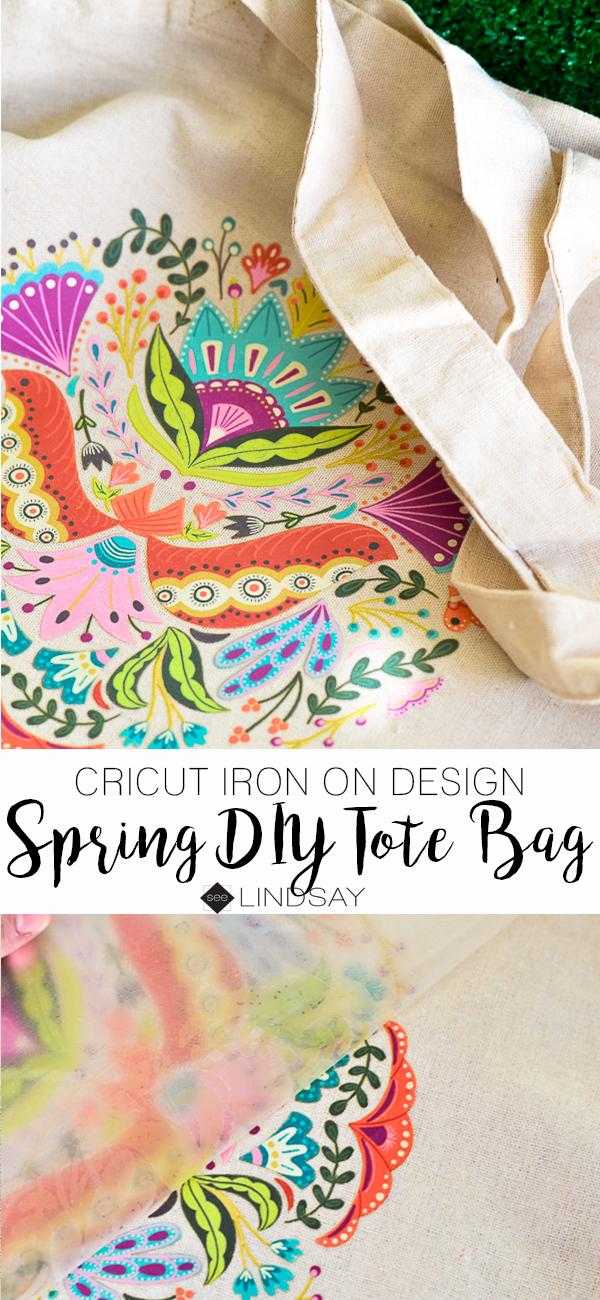 DIY Spring Tote Bag with Cricut | Pinterest