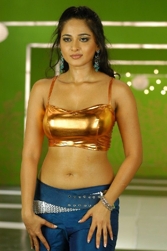Belly navel fetish button indian anushka