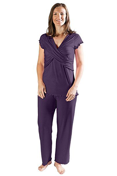 8de228e8370 Kindred Bravely The Davy Ultra Soft Maternity & Nursing Pajamas Sleepwear  Set at Amazon Women's Clothing store: