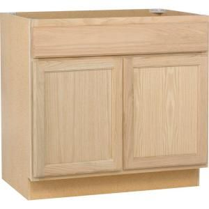 36x34 5x24 In Sink Base Cabinet In Unfinished Oak Sb36ohd At The Home Depot Mobile Home Depot Kitchen Home Depot Bathroom Kitchen Cabinets Home Depot