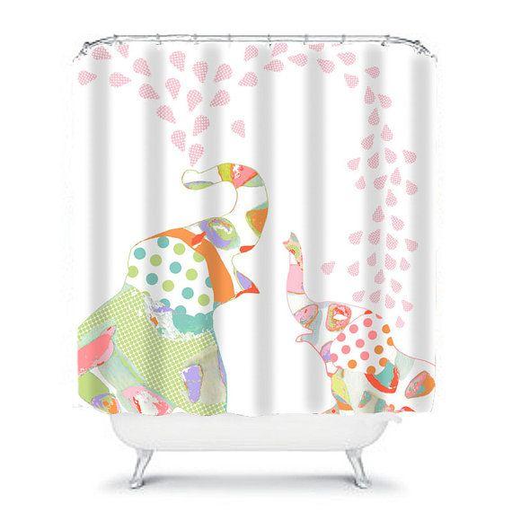 Kids Shower Curtains Elephant Shower Curtain Elephant Bathroom
