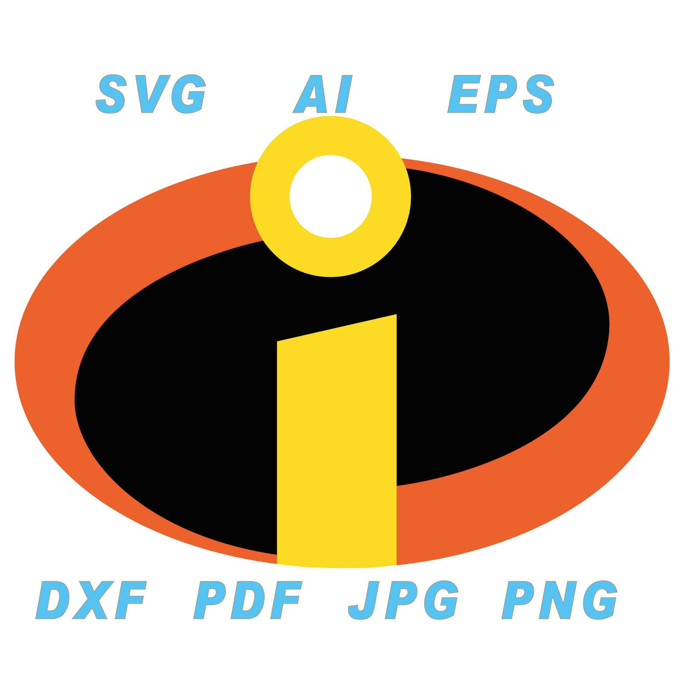 Incredibles svg, vector files, ai, dxf, svg, eps, jpg, png