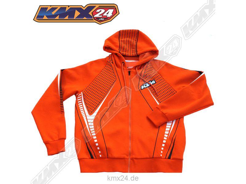 KTM MX Hero Hooded Sweatjacket Orange Kapuzenjacke