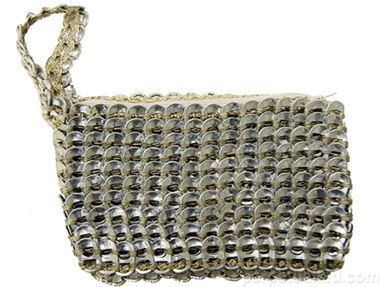RECYCLED SODA CAN TAB CLUTCH PURSE