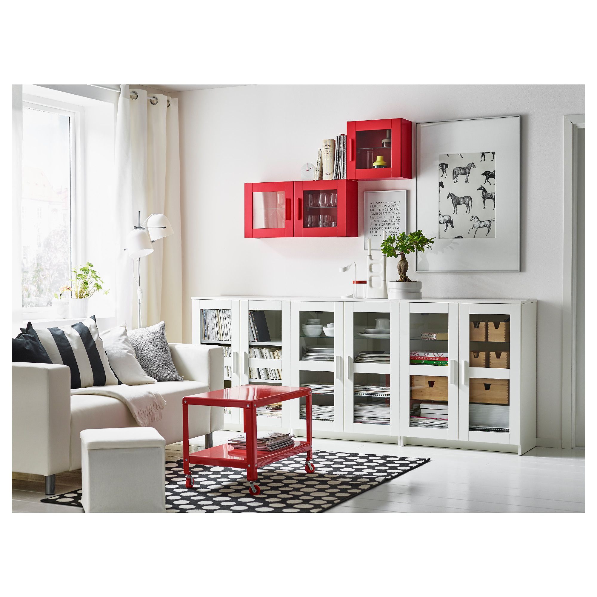 IKEA BRIMNES Cabinet with doors glass, white Pinterest
