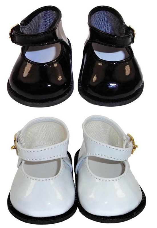 """Doll Clothes 18/"""" Shoes White Mary Jane Fits American Girl Dolls"""