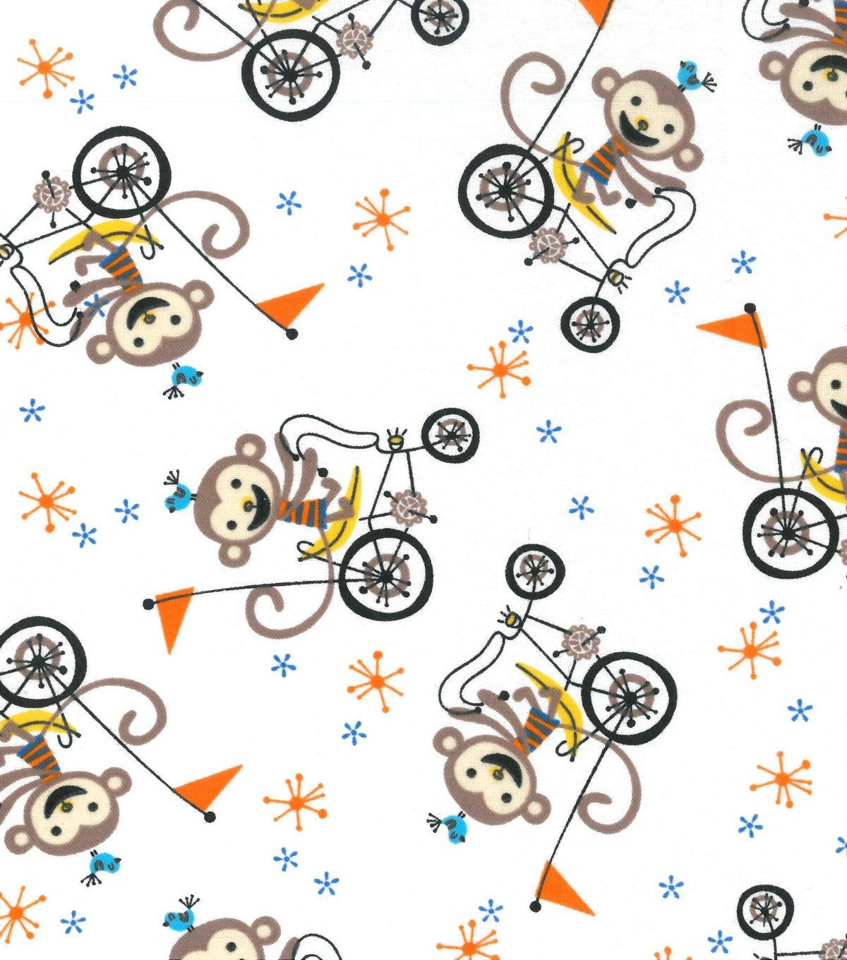 Bicycle Fabric By The Yard Flannel