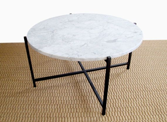 Cassia round marble coffee table by JamesDevlinStudio on Etsy