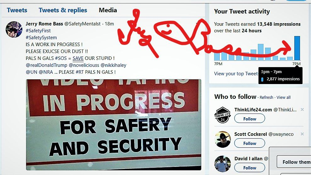 Jerry Rome Bass (SafetyMentalst) Twitter Safety