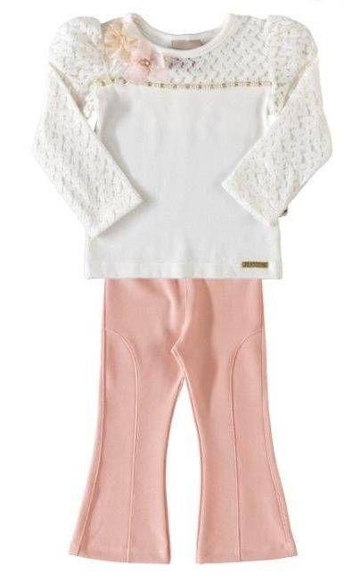 16bc1d8a4bb6b blusa de renda com calça montaria