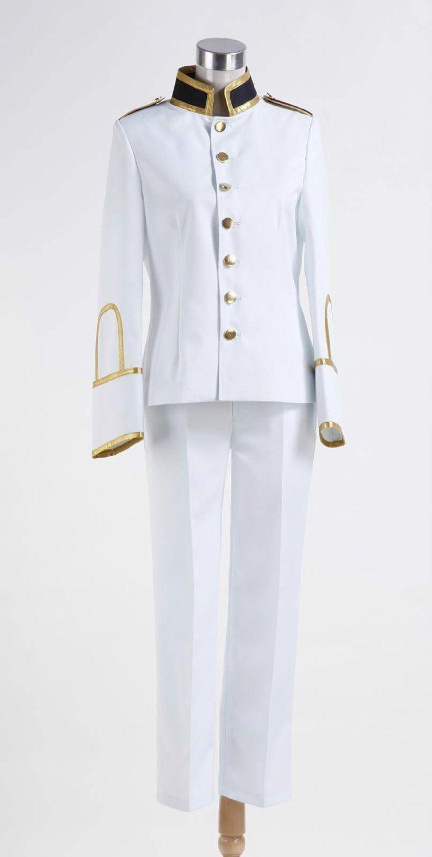 Axis powers hetalia honda kiku japan white uniform suit