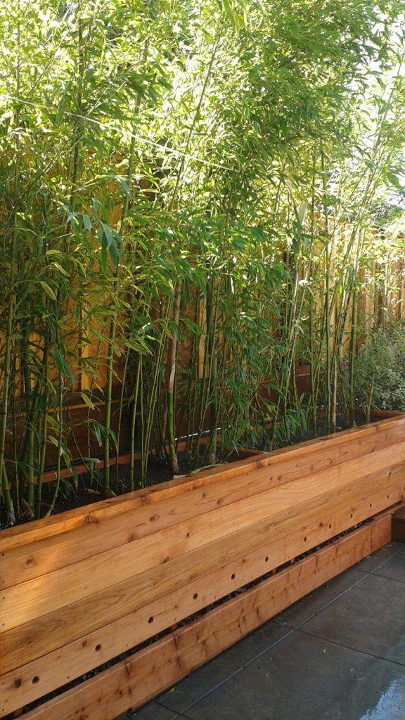 Custom Redwood Planter Box In 2020 Bamboo Planter Small 400 x 300