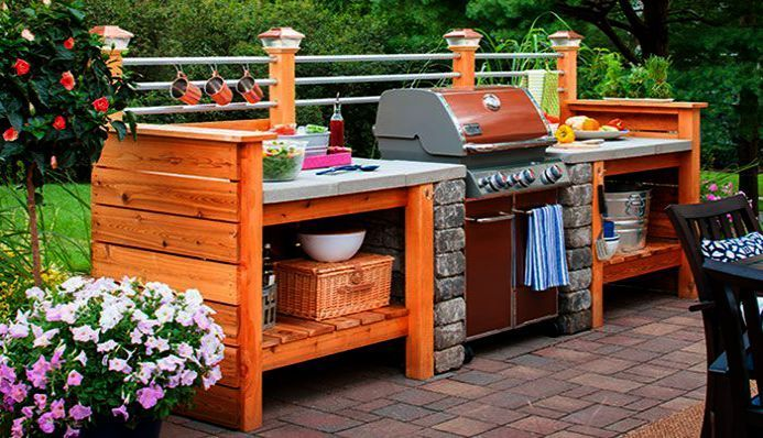 Landscaping Ideas For Front Yard Southern California Underneath Landscape Design Diy Outdoor Kitchen Outdoor Kitchen Design Rustic Outdoor Kitchens