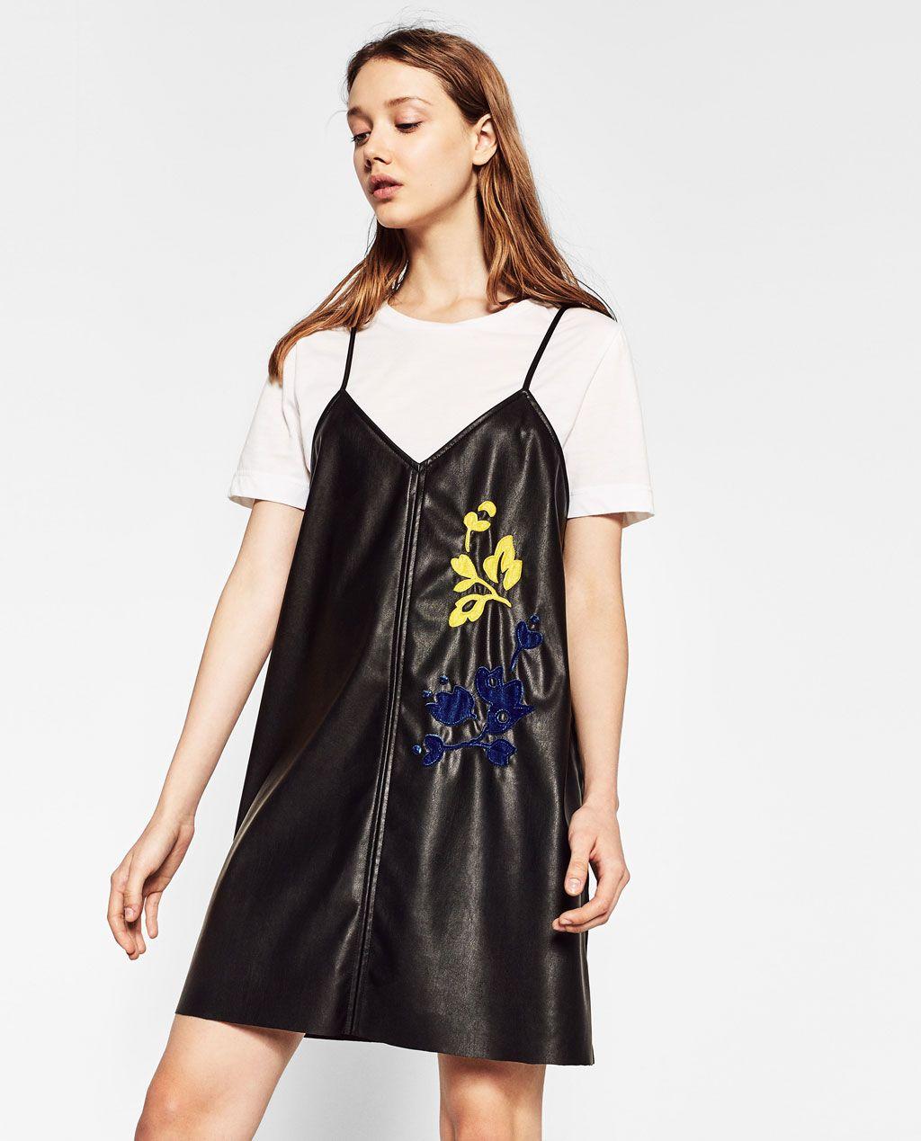 Zara trafaluc kleid rot