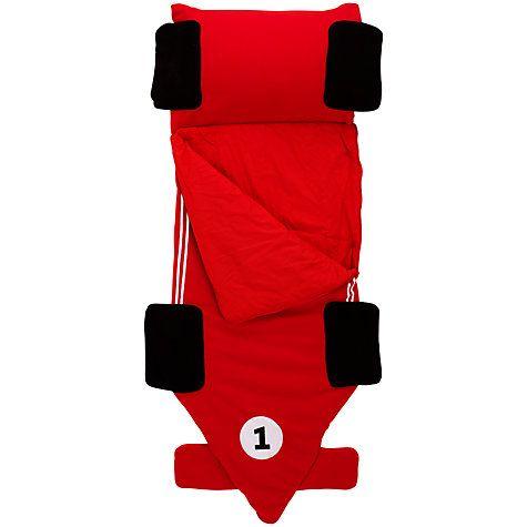 Buy Little Home At John Lewis Snuggle Sac Racing Car Sleeping Bag Red Online