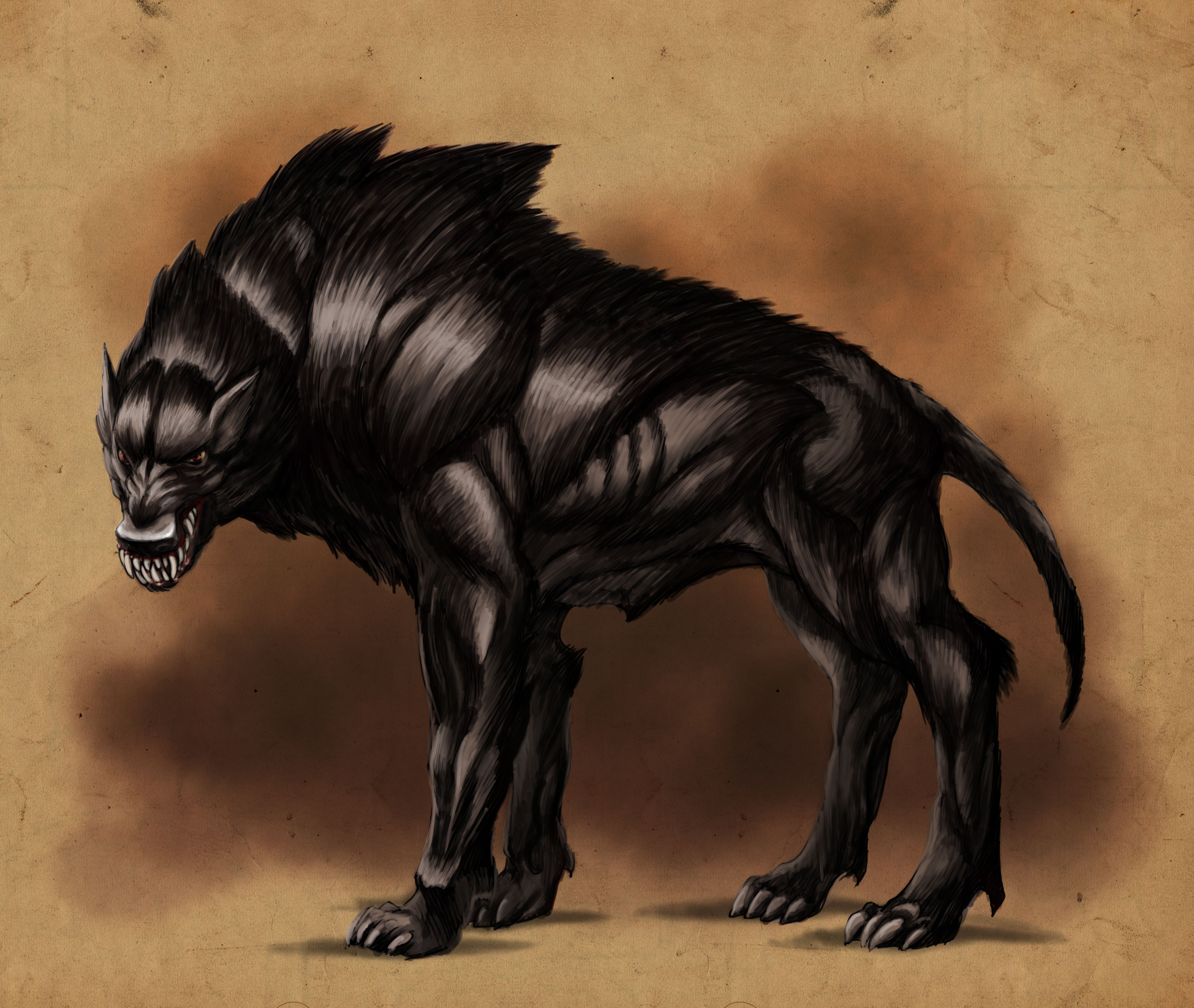 dire wolves wolf by solidtom digital art drawings paintings