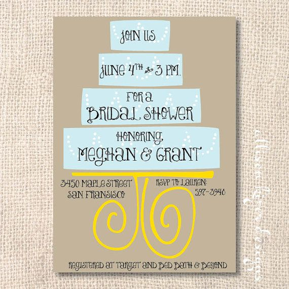 This 5x7 Inch Wedding Shower Invitation Will Be Personalized With Your Choice Of Wording I