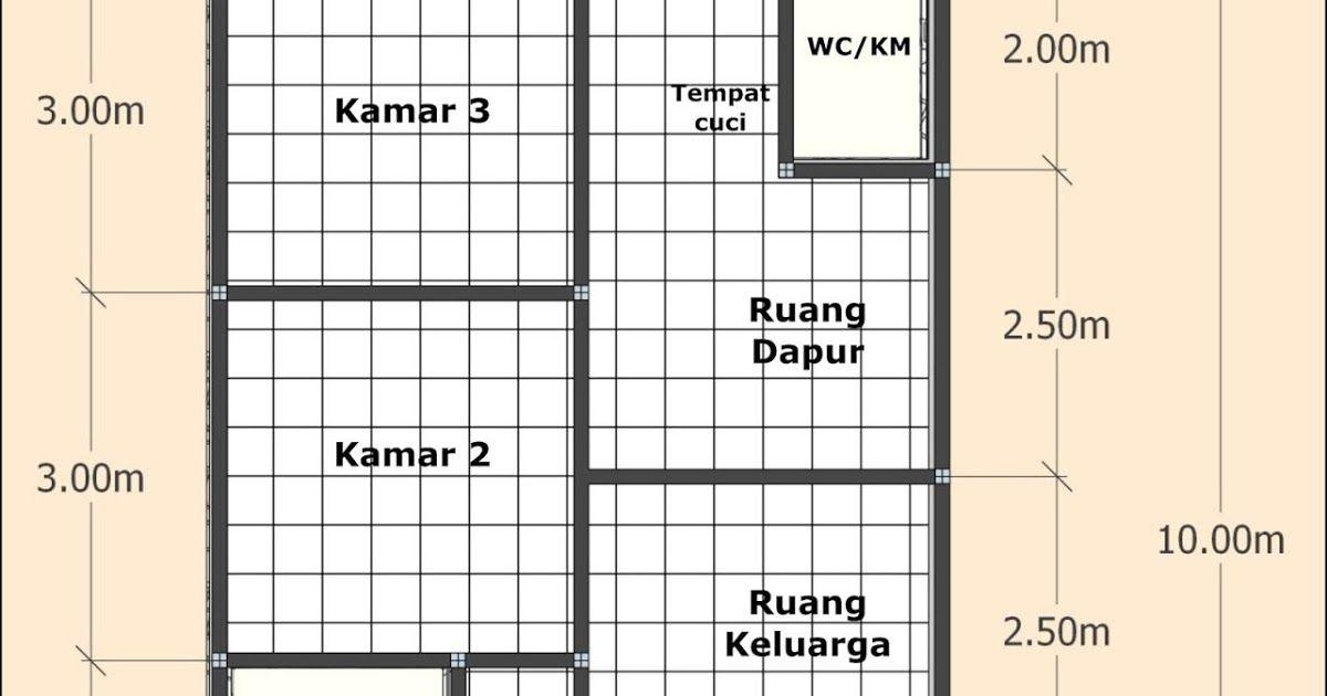 Desain Rumah Minimalis 2 Kamar Ukuran 6x10 Cek Bahan Bangunan