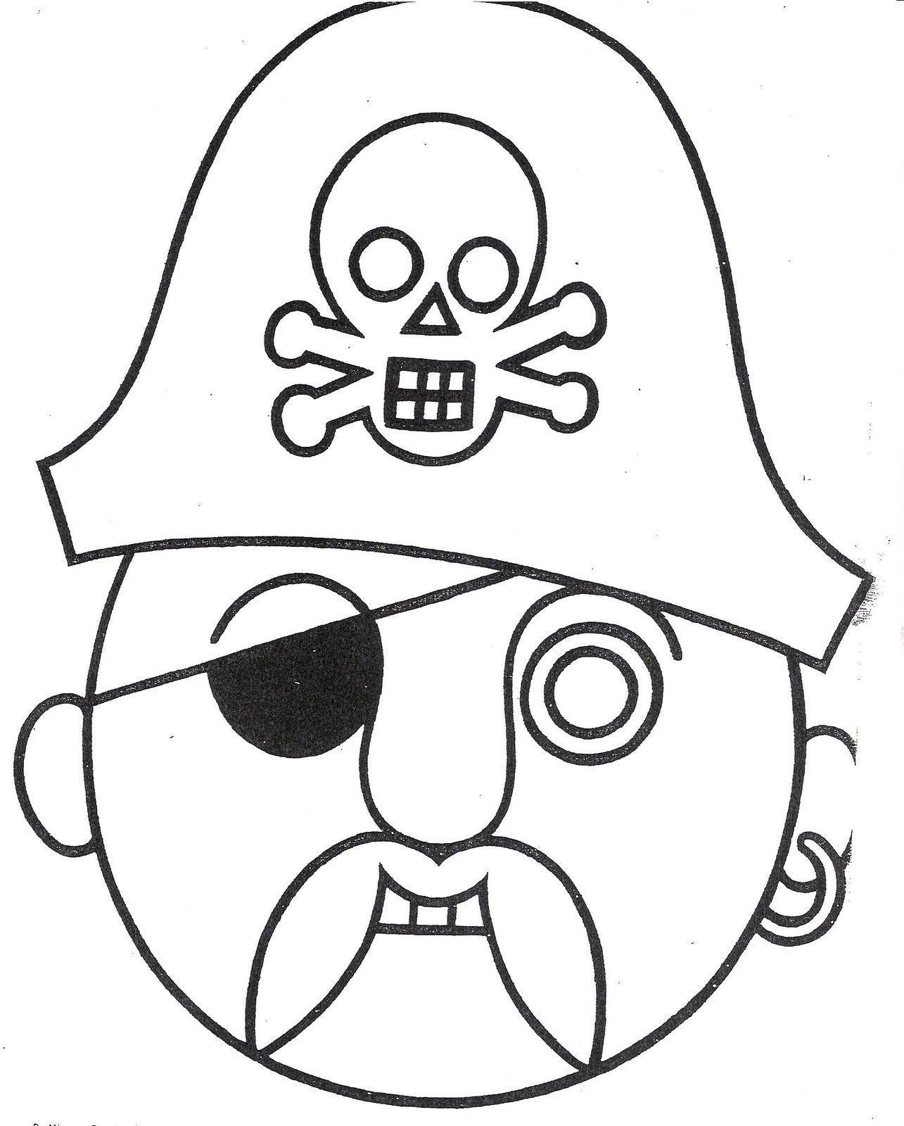 mascara de pirata para colorir | Things to wear | Pinterest | Carnavales