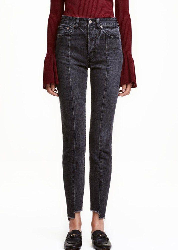 44fd222ee3 TRENDING: Uneven Hem Jeans   Shop all the best asymmetric frayed denim —>