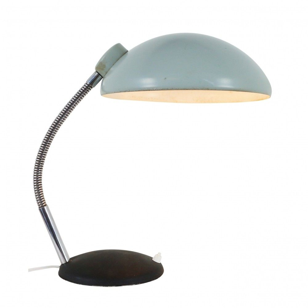 For Sale Vintage Blue Black Metal Desk Lamp 1950s Metal Desk Lamps Desk Lamp Black Metal Desk