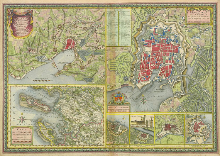 Vintage infodesign 60 cartography la rochelle et environs 1773 visited in 07 a freerunsca Image collections