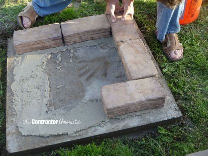 backyard fire pit, concrete masonry, diy, outdoor living