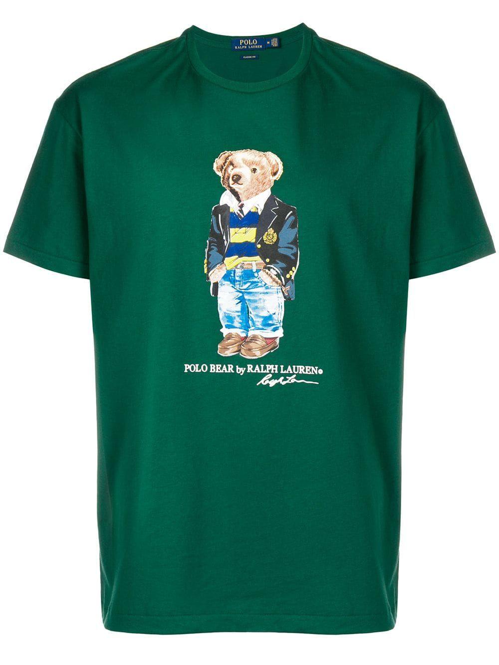b92c201d3 POLO RALPH LAUREN POLO RALPH LAUREN POLO BEAR T-SHIRT - GREEN.   poloralphlauren  cloth