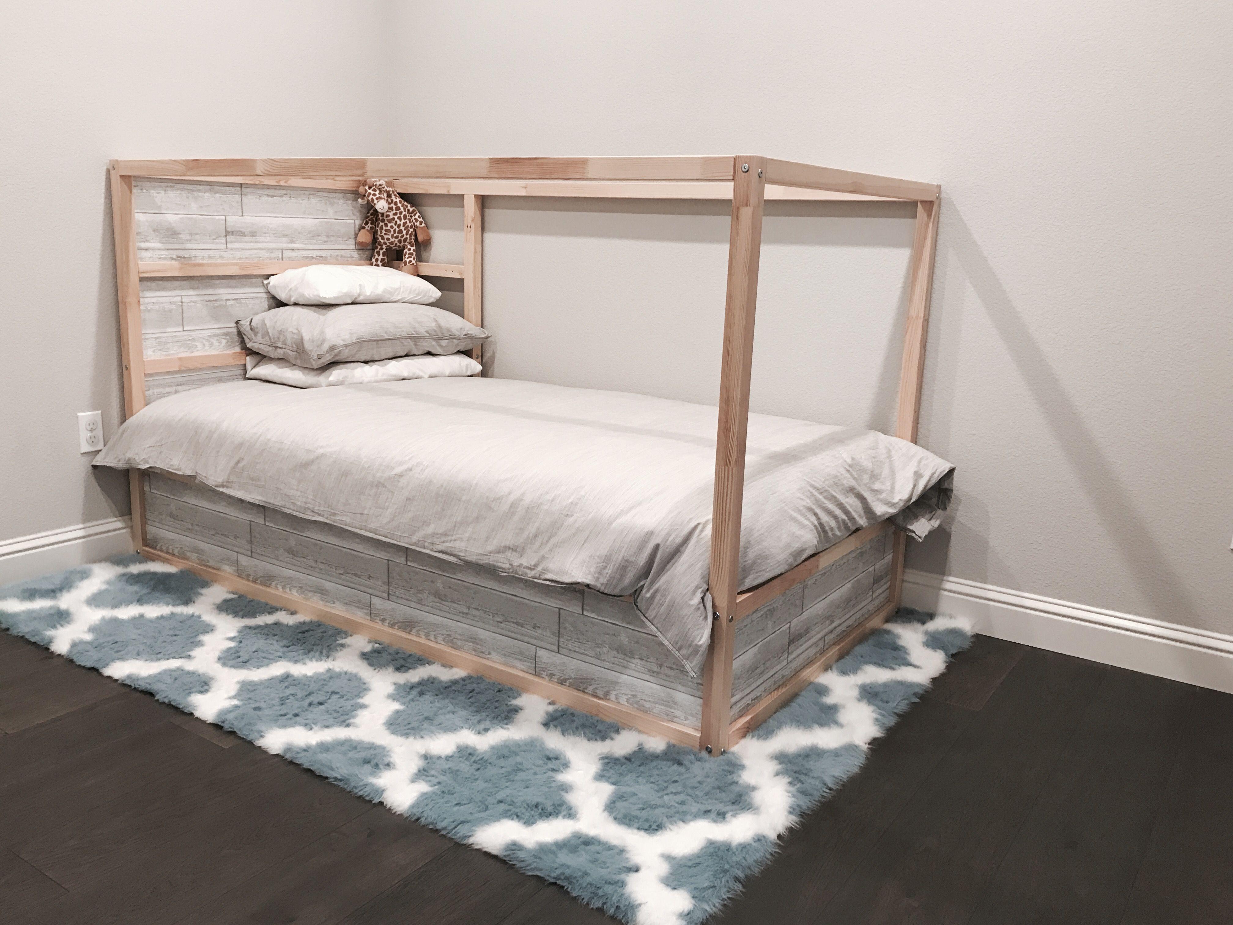 Best Ikea Kura Bed With White Grey Wood Plank Adhesive 640 x 480
