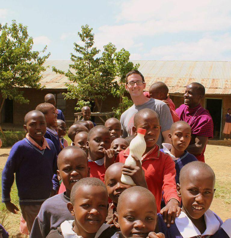 Convoy of Hope feeding program at rural school in Mt