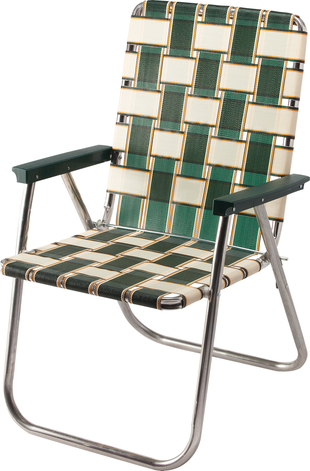 Amazon Com Lawn Chair Usa Webbing Chair Classic Charleston With Green Arms Kitchen Dining Lawn Chairs Chair Outdoor Chairs