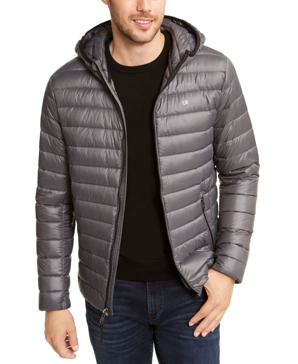 Calvin Klein Men S Packable Down Hooded Puffer Jacket Created For Macy S Reviews Coats Jackets Men Macy S In 2021 Puffer Jacket Women Calvin Klein Men Mens Jackets [ 1466 x 1200 Pixel ]