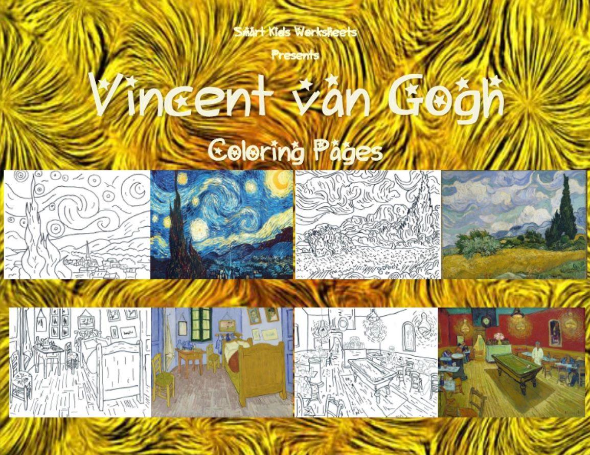 Vincent Van Gogh Coloring Pages Arts & Crafts