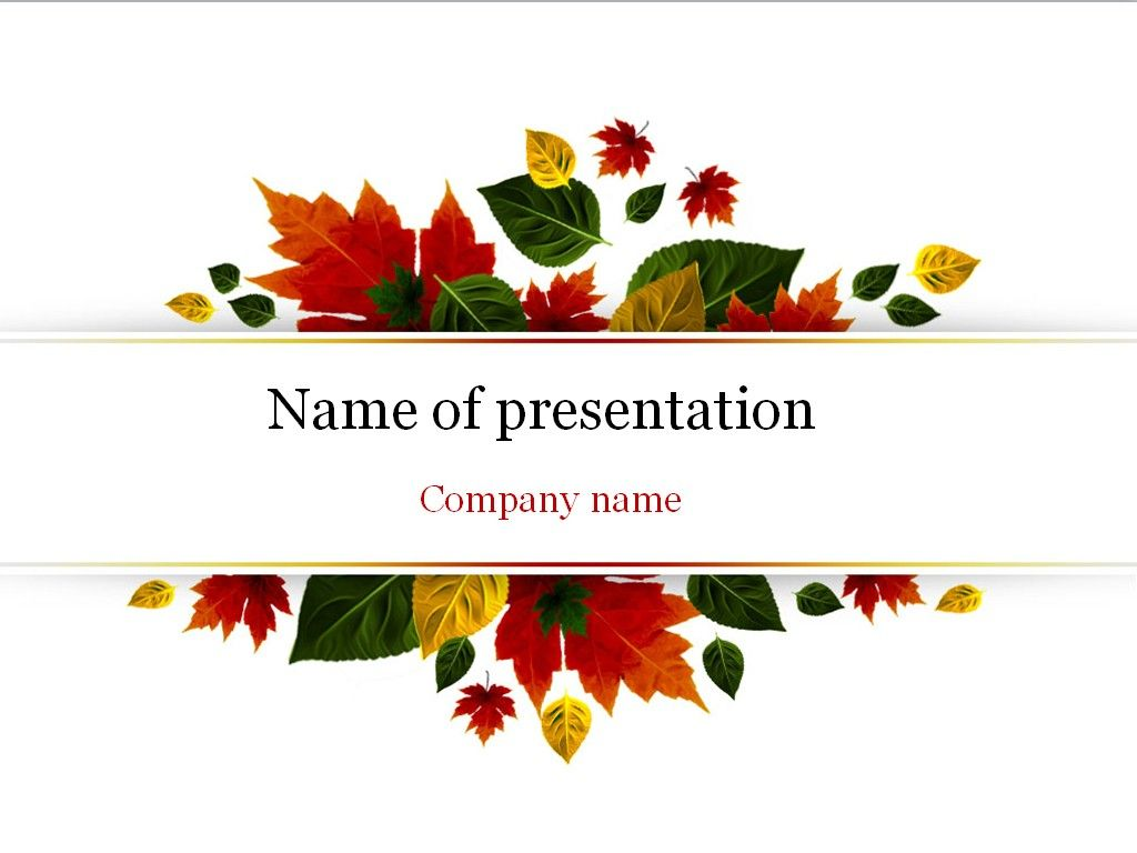 Autumn powerpoint template templates pinterest template autumn powerpoint template toneelgroepblik Choice Image
