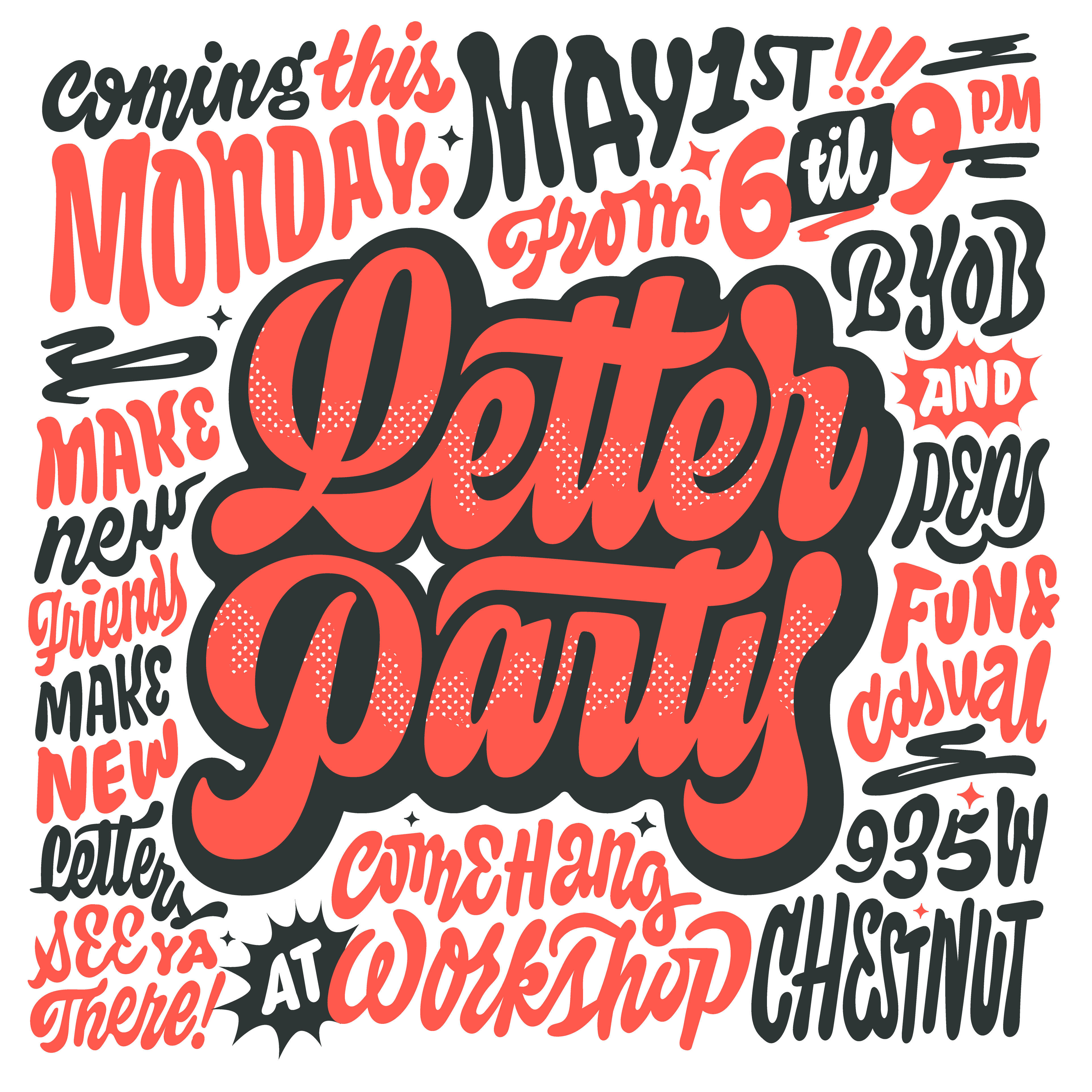 Lettering Design, Typography Graphic