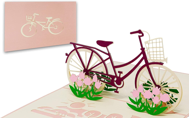 Fahrrad Geburtstagskarte Pop Up 3D
