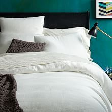 White Bedding Bed Sheets and Duvet Cover Sets | west elm