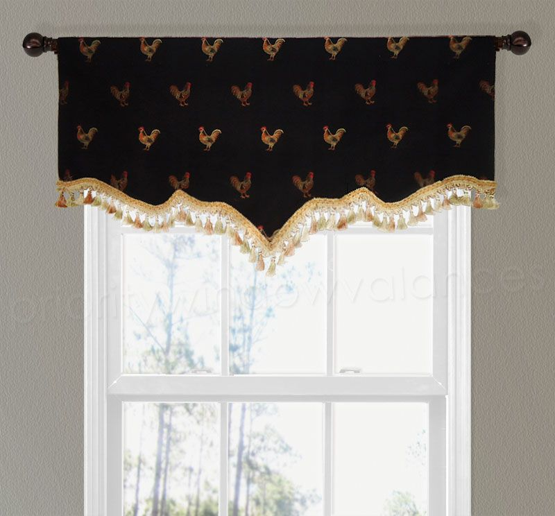 Satisfying Detail rooster valances window treatments Amazing New