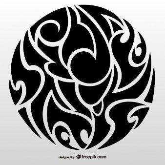Tatuaje círculo tribal