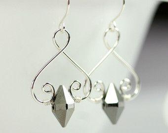 Sterling Silber Ohrringe Swarovski Kristall Ohrringe Draht ...