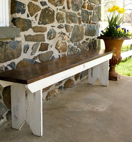 Barn Wood · Reclaimed Barnwood Bench. Tung Oil And Milk Paint Finish. Piece  Made From Furniture From Part 94