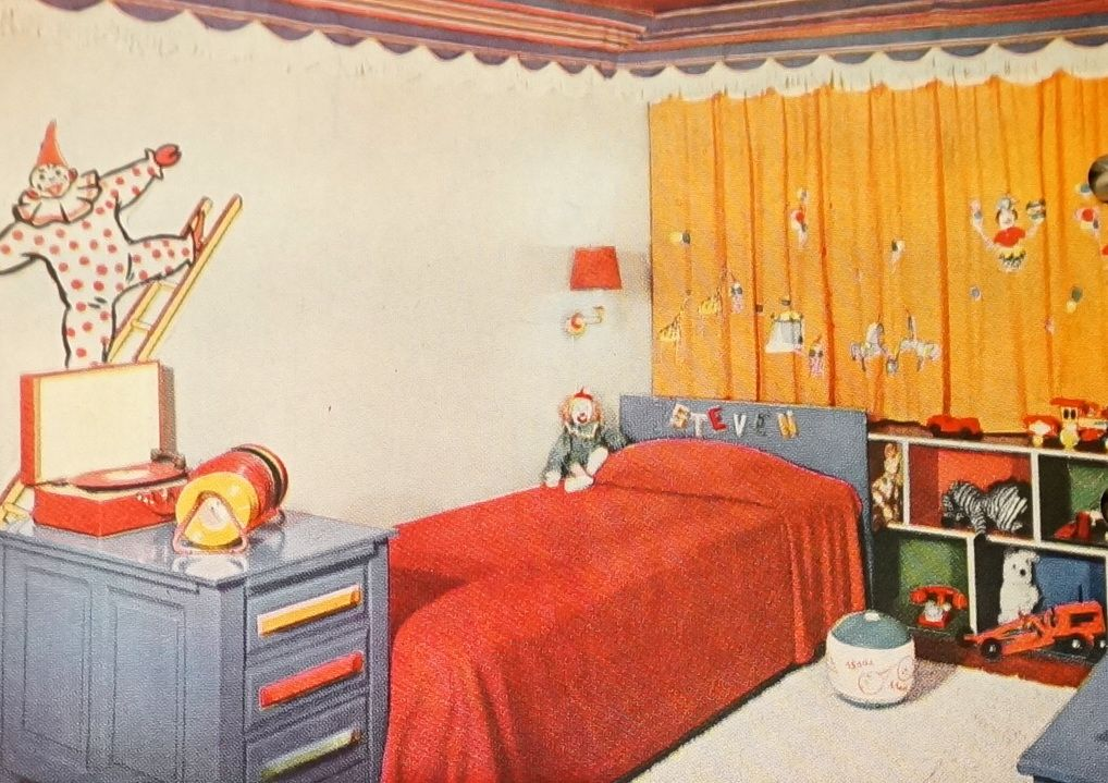 50s Children S Bedroom Retro Bedrooms Bedroom Decor 1950s Home Decor