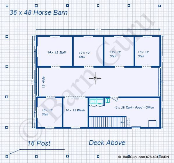 5 stall horse barn with living quarters could change for 4 stall horse barn plans