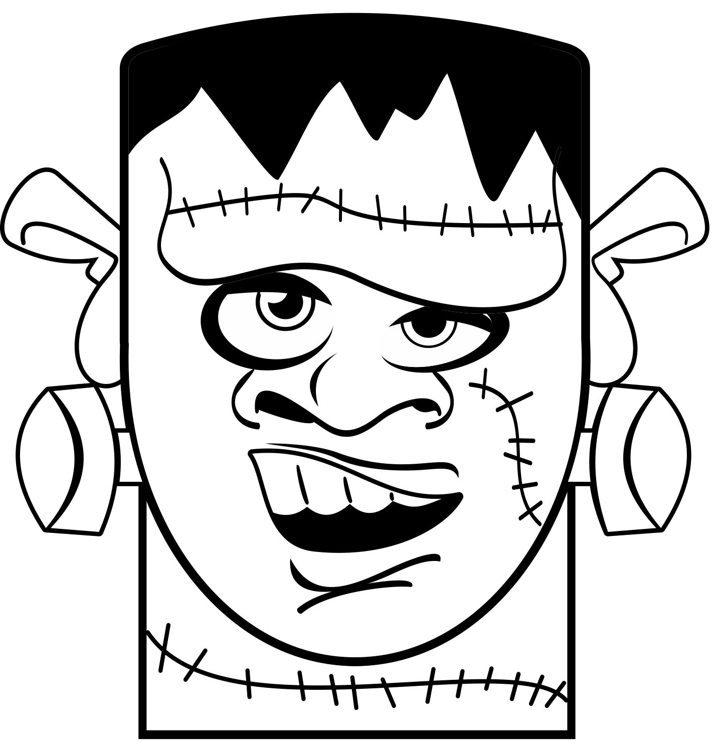 Frankenstein Coloring Pages Coloring Pages For Kids Free Coloring Pages